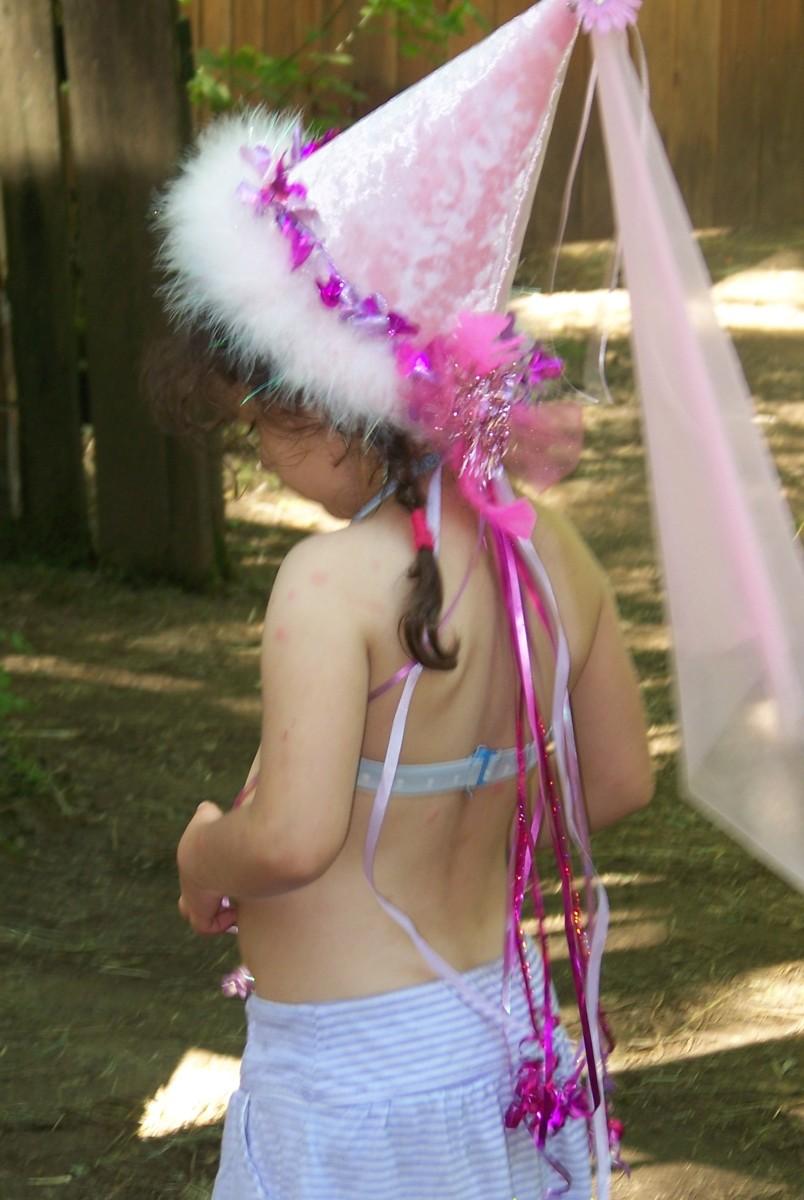 Children enjoy the costumes.