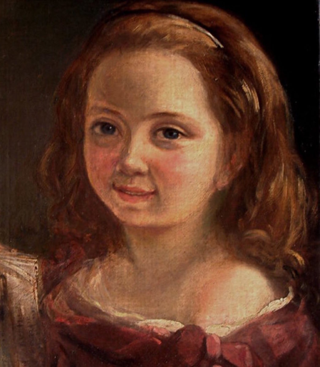Painting of Ada Lovelace as a child