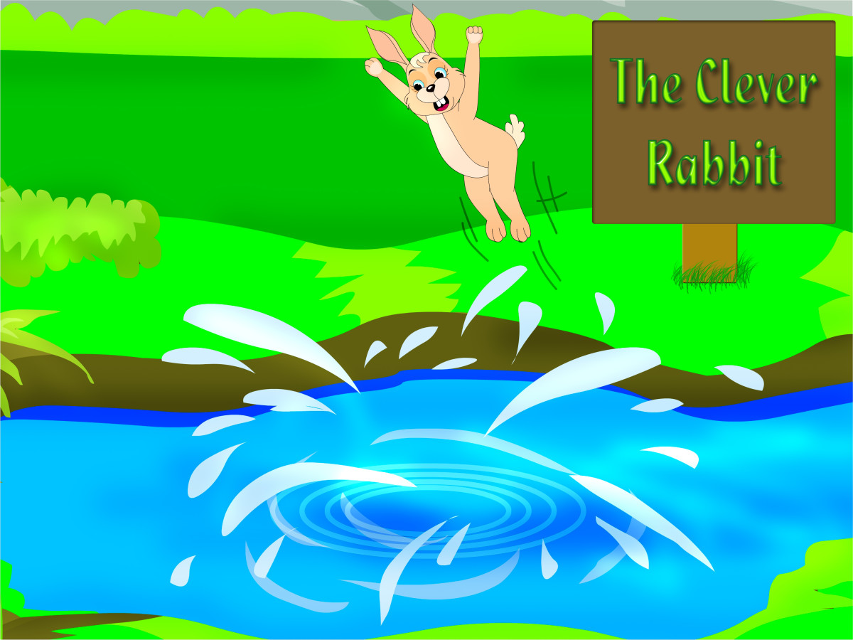 Moral Short Stories With Pictures: Clever Rabbit & Foolish Lion