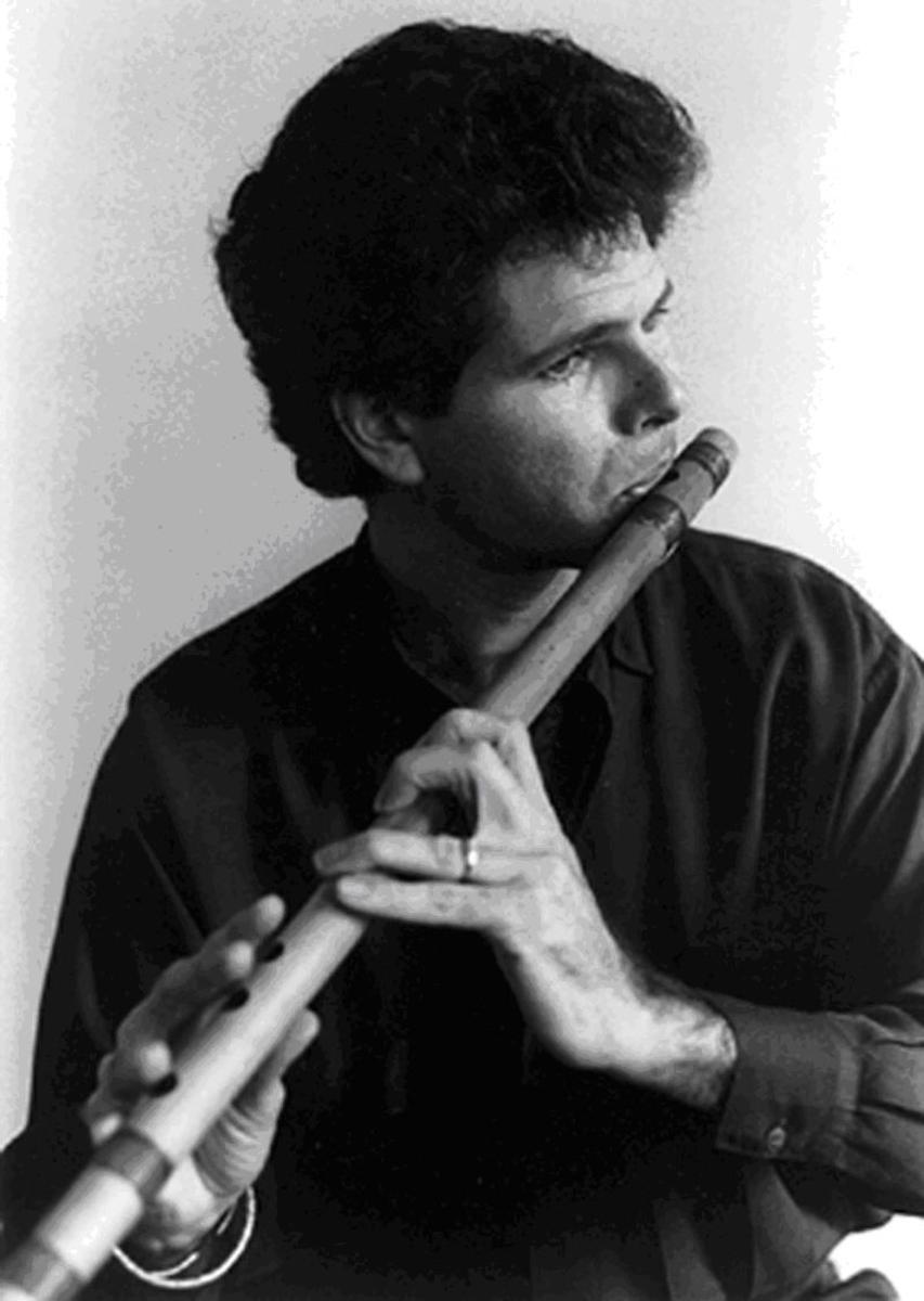 Steve Gorn playing the Bansuri.