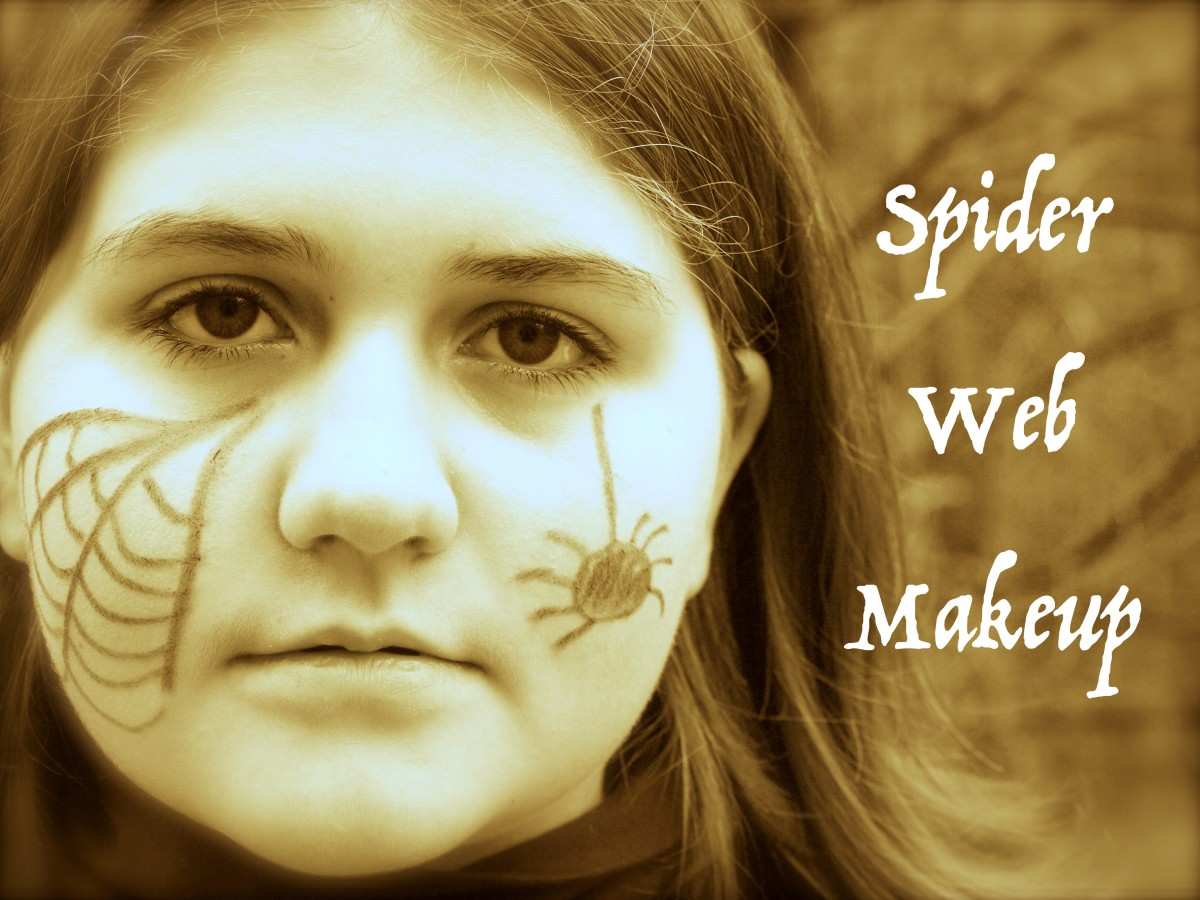 Tips and ideas for spider web makeup.