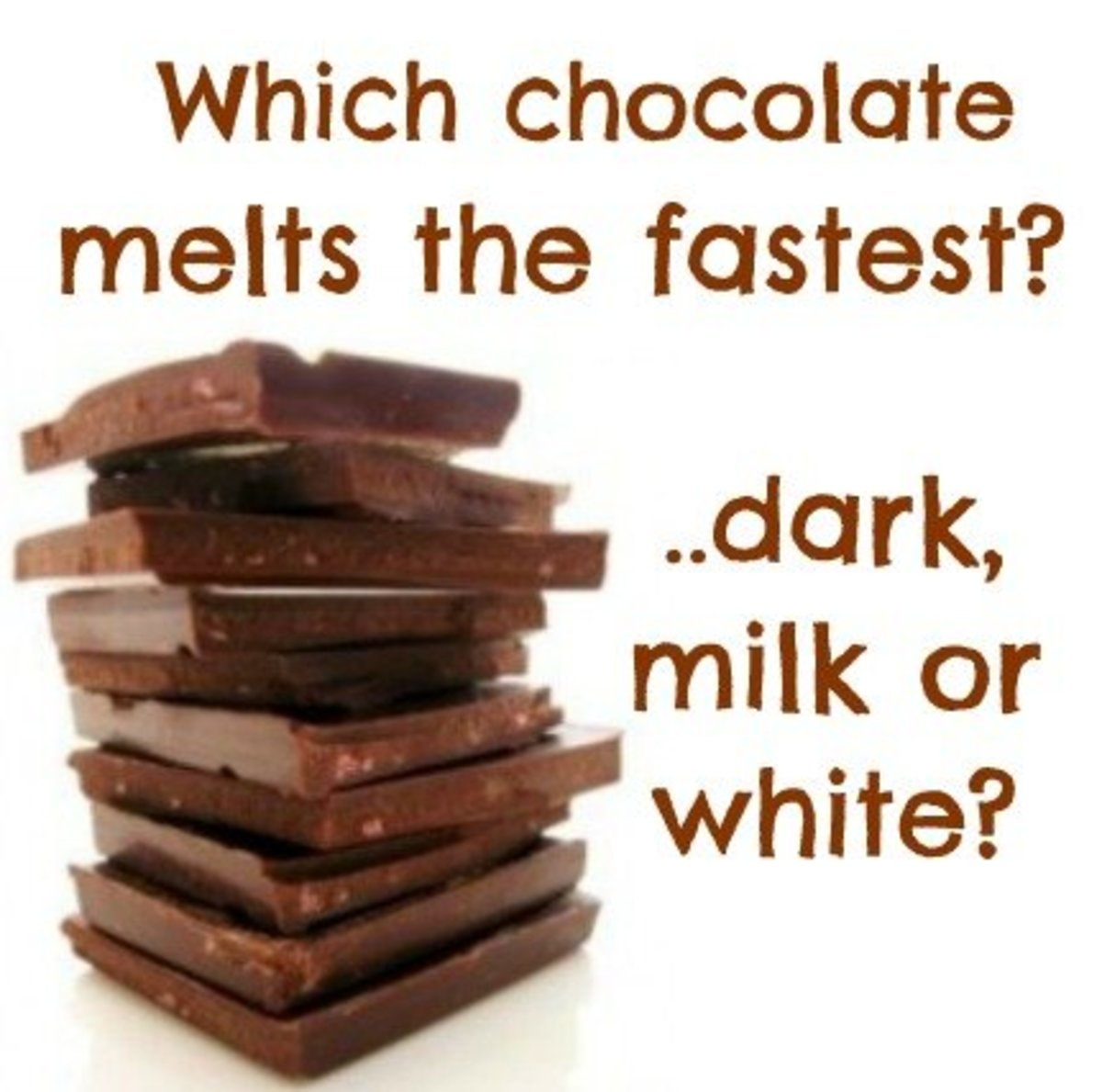 melted chocolate science experiment Chocolate rock cycle activity source: the geological watch as the heat transfers from the water to the foil and melting chocolate national science education standards (1995): earth and space science (a), physical science (b.
