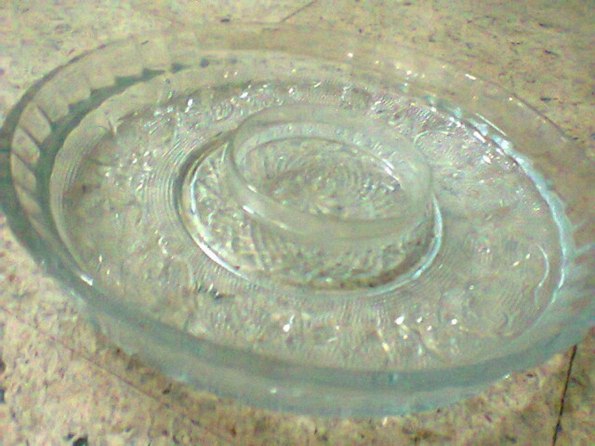 bowls with water