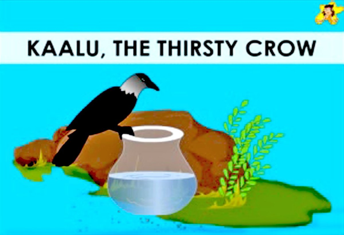 The Thirsty Crow: A Moral Story (in English) With Pictures