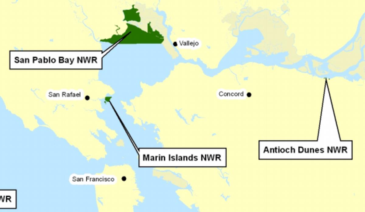 Antioch Dunes National Wildlife Refuge Map