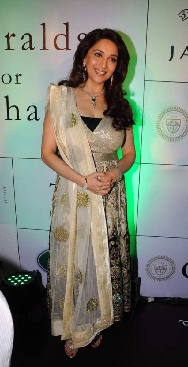 Madhuri Dixit at the launch of Emeralds for Elephants (2011), CC-BY-SA-3.0.