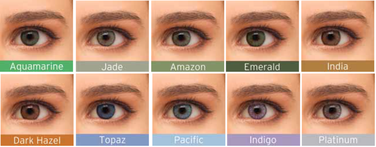 bausch lomb colour chart - Color Contacts Amazon
