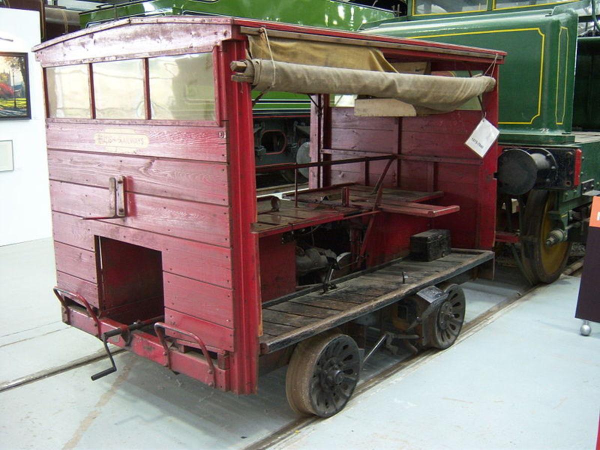 Standard gauge Wickham Trolley at 'Locomotion' (NRM) Shildon near Darlington, County Durham