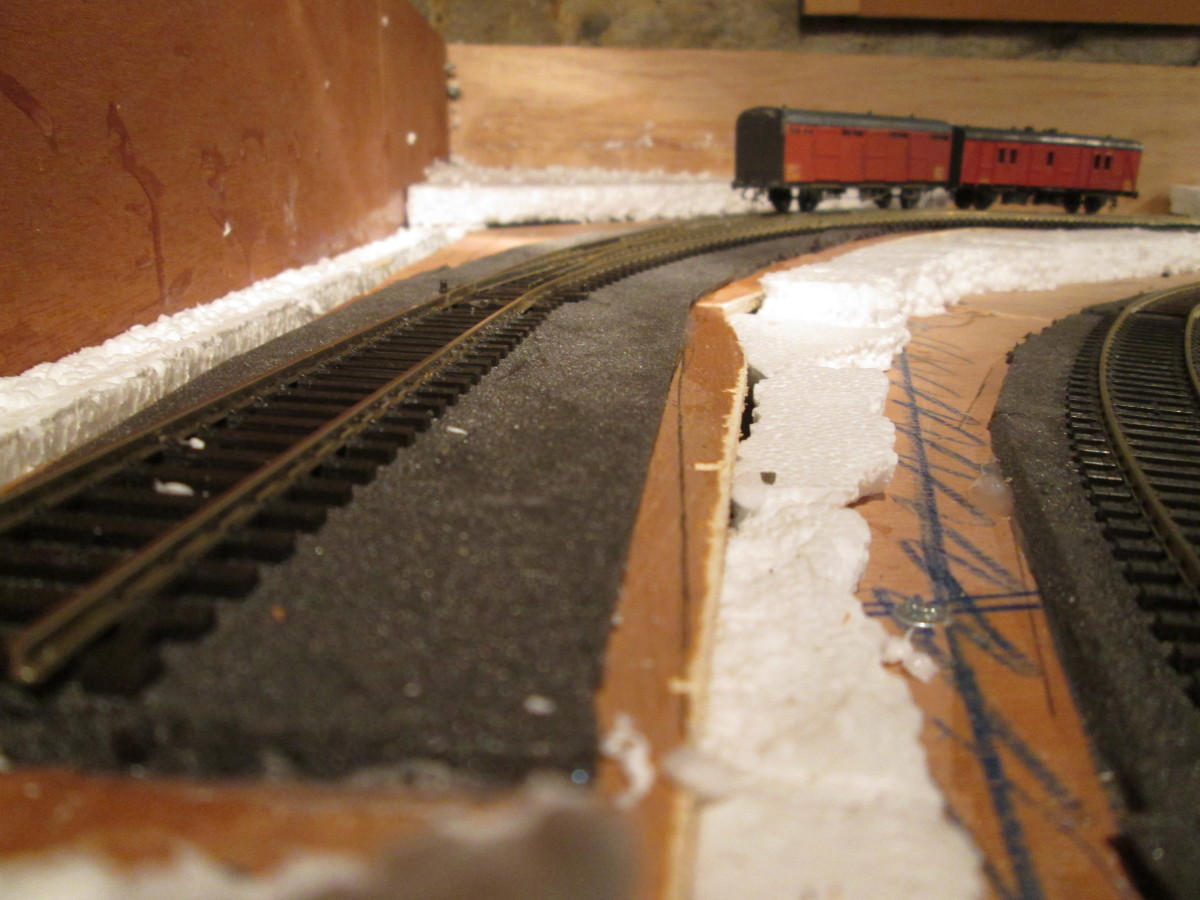 From the buffer stop end, the curve is accentuated in this view.
