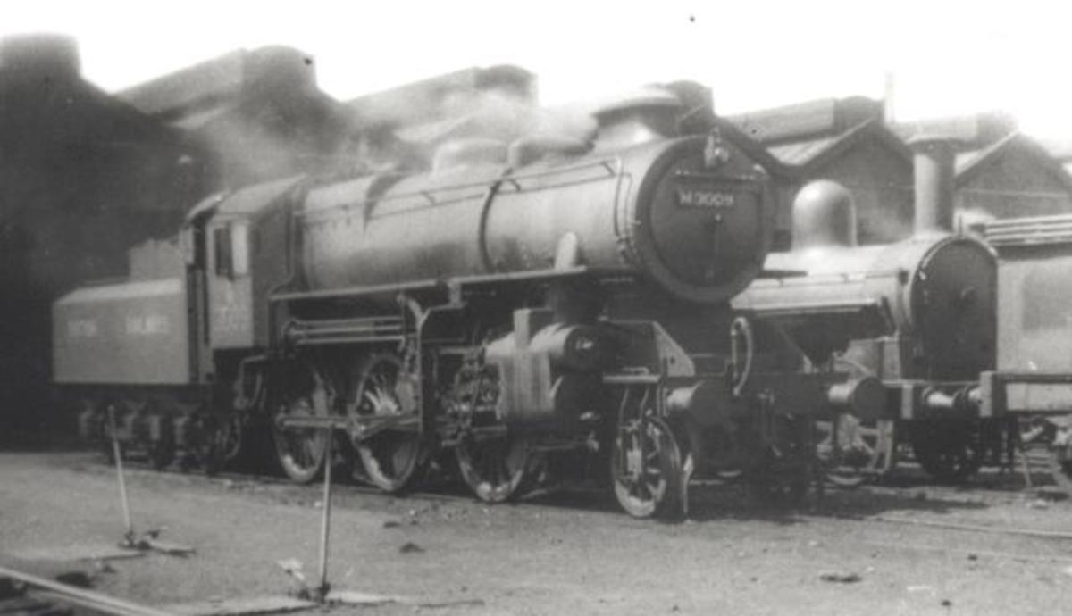 Early Ivatt 4 2-6-0 seen here with original double chimney - all were later replaced due to poor steaming capabílity