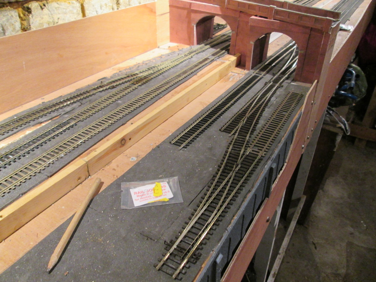 Got to order rail joiners to carry on track laying (25/11/19), although what track is available is in position and ready. A couple of double track lengths should be enough for the siding, likewise for  the main (freight and mineral) running lines