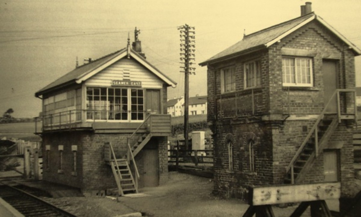 In the 1970s at Seamer near Scarborough the original  NER signal cabin still stood near the entrance to the goods depot close to the more recent structure