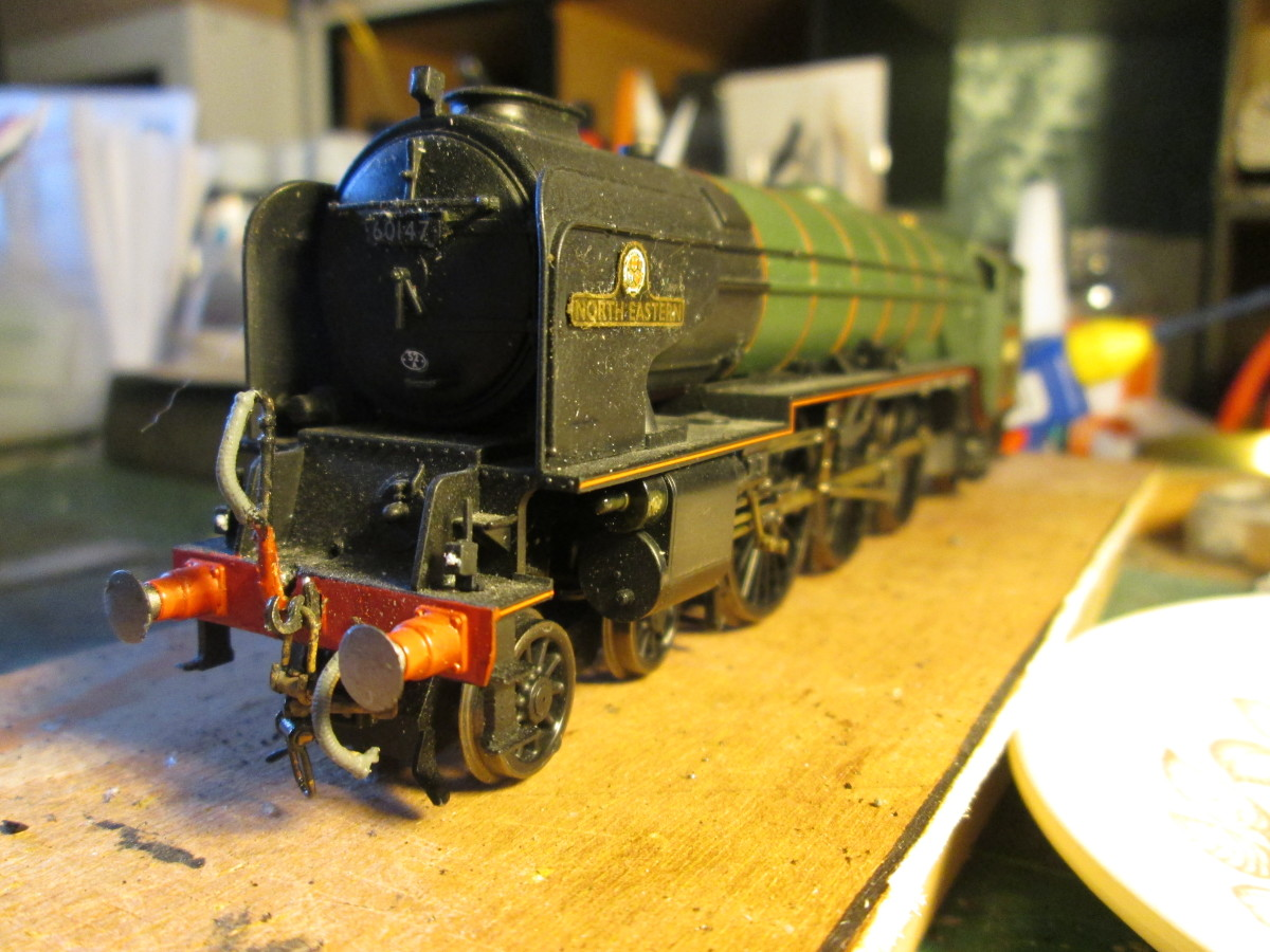 ... Here's my version, a Hornby Class A1 renamed and renumbered from 60163 'Tornado' to 60147 'North Eastern' of Gateshead shed (52A)