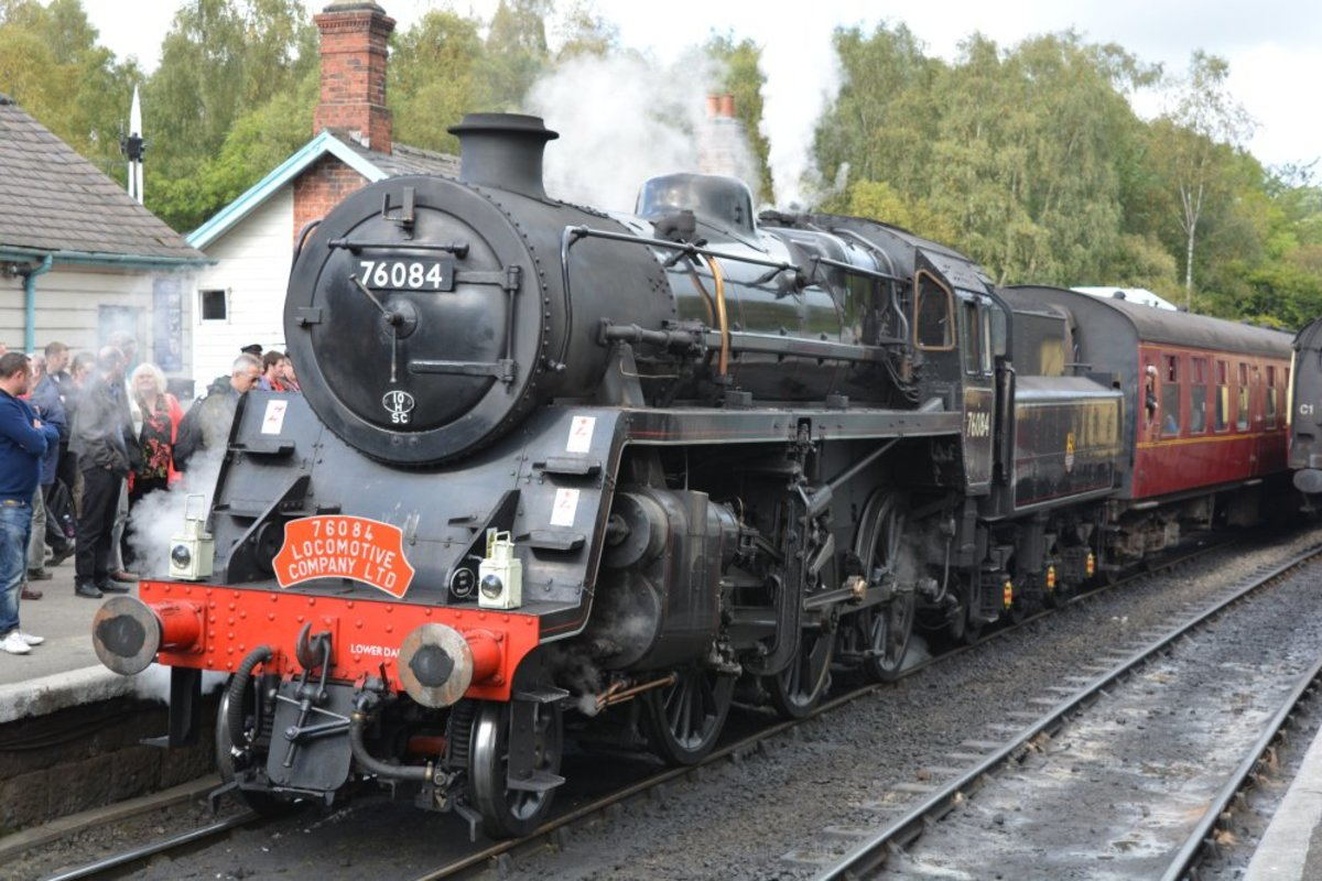 Here's another preserved engine,  76084 at the same location has just returned from Whitby
