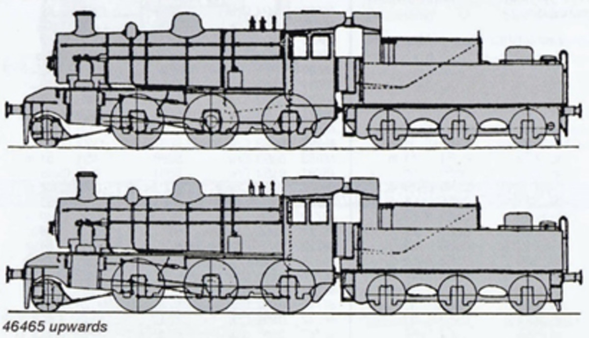 A small chimney alteration and increase in cylinder size was made to the original Ivatt design