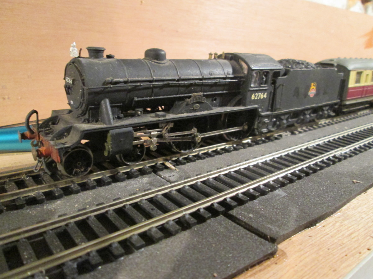 Here's 'The Garth' again in charge of her two-coach stopping train (single lamp atop the smokebox