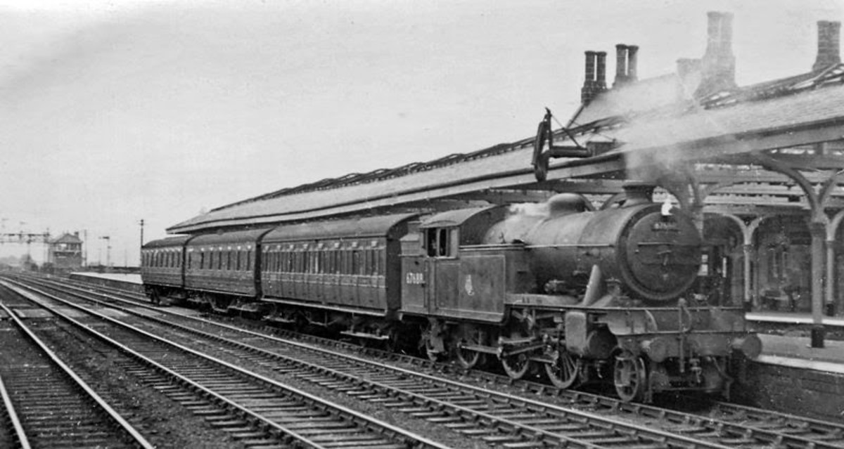 Class V3 67689 pauses at Durham in 1953, before the advent of diesel multiple units in the region saw them 'pensioned off' (scrapped), or allocated on parcels or empty stock movements and then scrapped when diesel shunters took over their duties