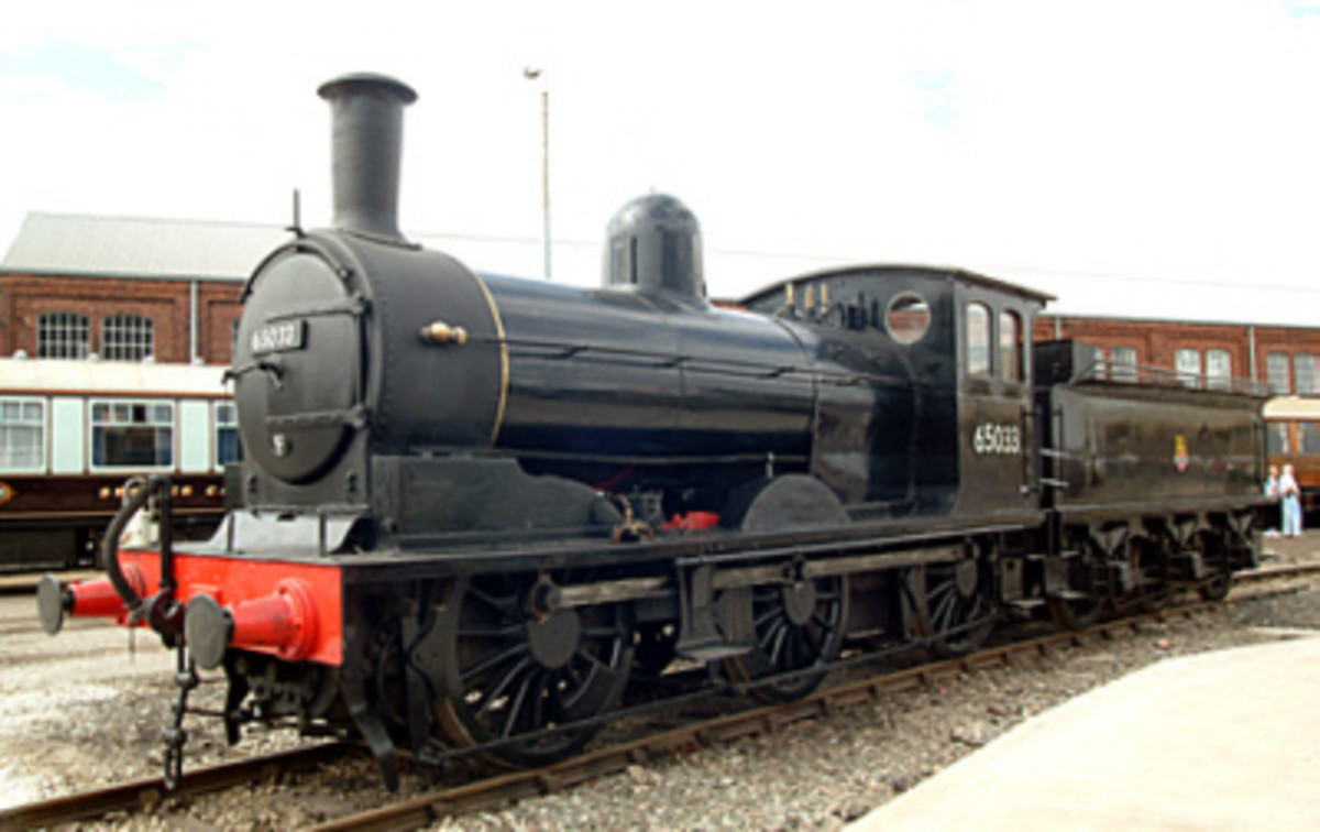 In British Railways livery here as No. 65033, a survivor that lived to be exhibited at Doncaster's Great Northern 150th anniversary. Last seen (by me) at 'Locomotion awaiting restoration in 2018