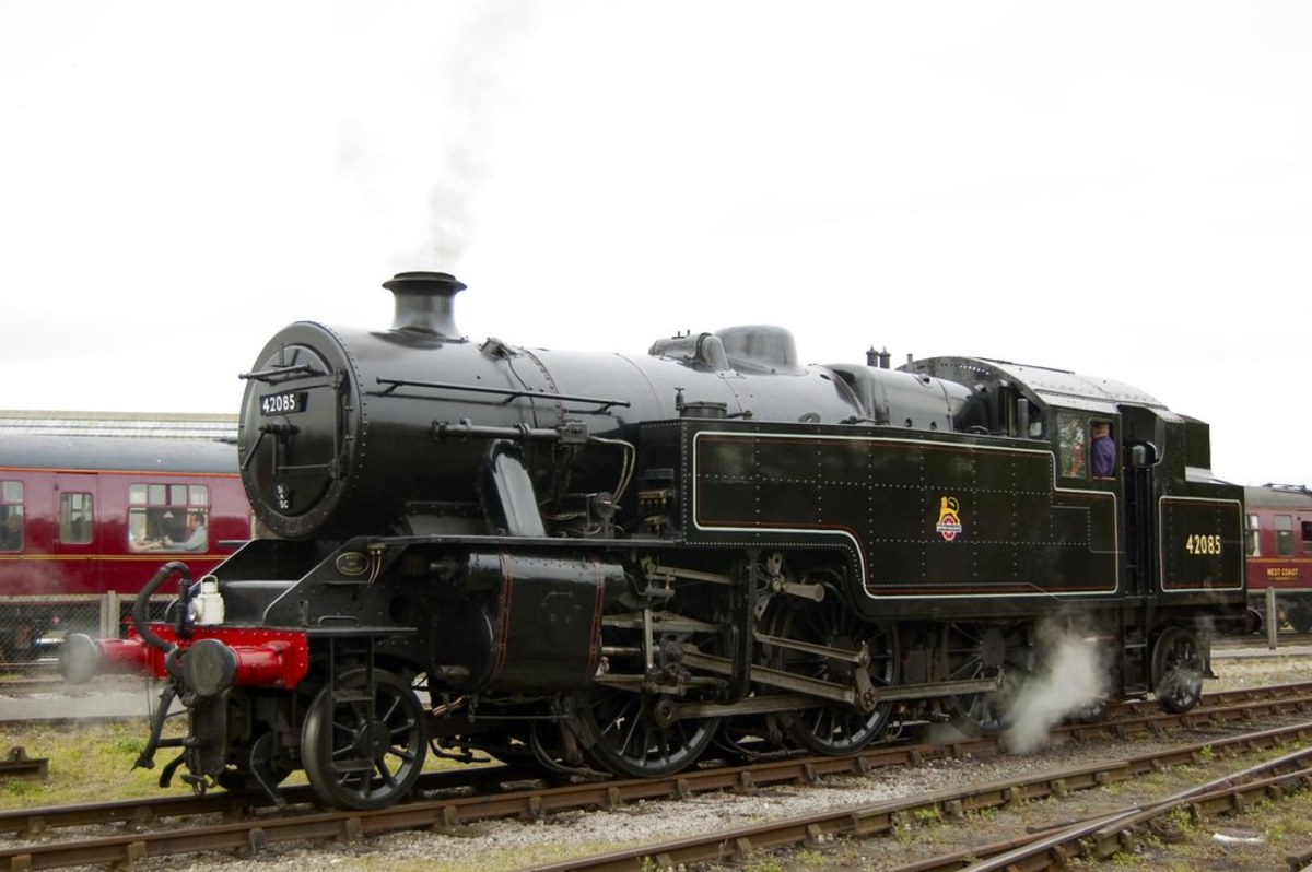 Preserved Fairburn 42085 attends a celebration of LMS motive power at the National Railway Museujm, York