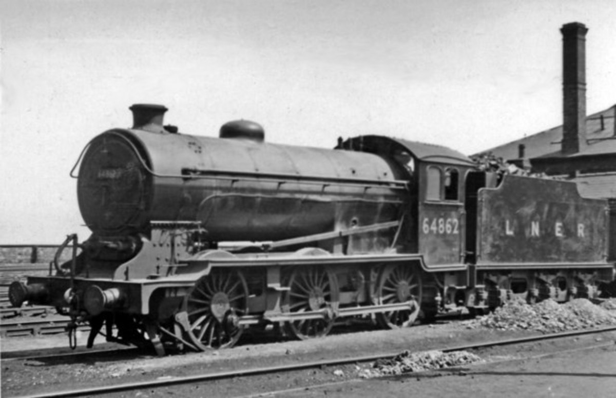 J39 64862 of West Hartlepool (51C) shed basks in the sunshine at home - must be early in British Railways days, with 4,200 gallon tender still marked as 'LNER'