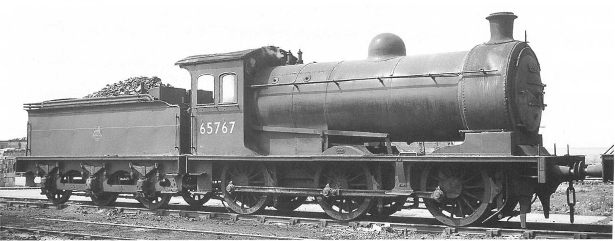This is J26 65767 of Newport (51B) - in 1958 when Thornaby shed (51L) opened and several Teesside sheds closed (Newport, Middlesbrough, Saltburn) 65767 didn't make the transfer, nor did 65738 (see above) and was possibly scrapped that year.