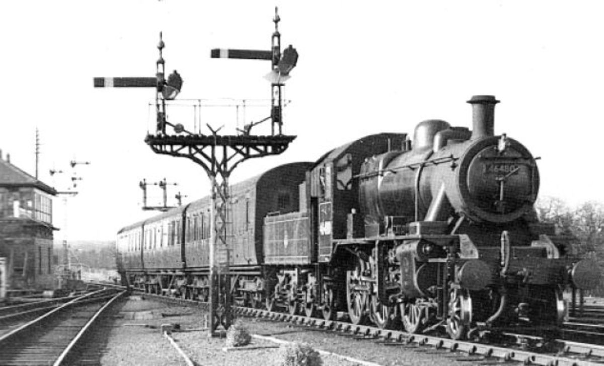 One-time York allocation, 46480 takes a passenger working over the Stainmore line in the late 1950s