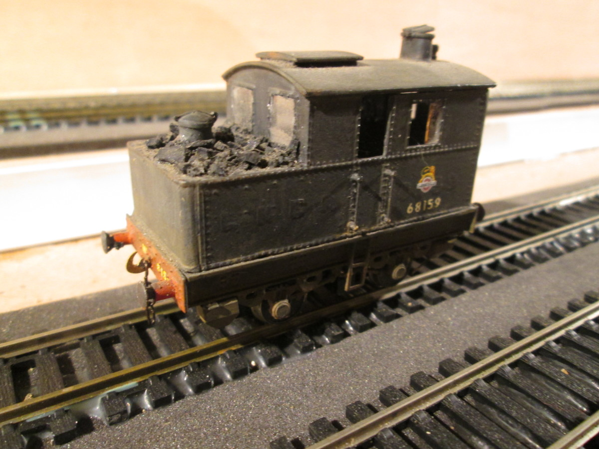 The rear of the engine, showing the water filler cap and coal bunker. This engine may have been taken into Departmental use at Darlington. One was preserved, Departmental No. 54