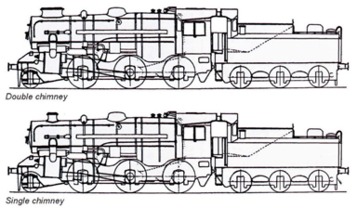 Initially Ivatt 4 2-6-0 locomotives were provided with double chimneys