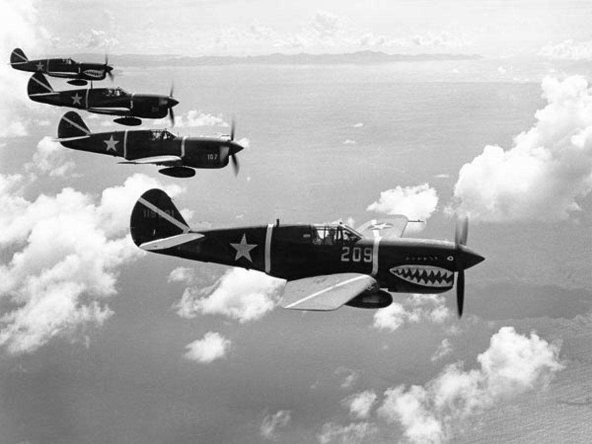 WWII P-40s Warhawk