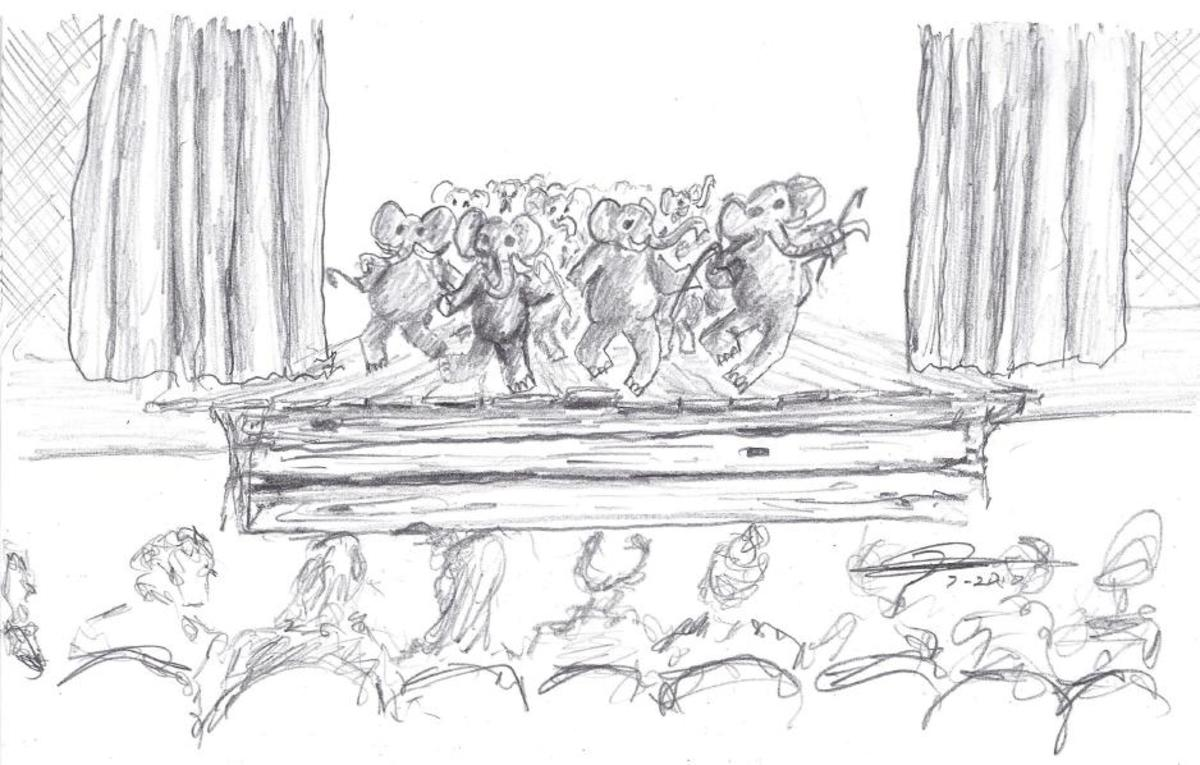 You can't hide the sound of 1000 elephants tap-dancing on a wooden stage.