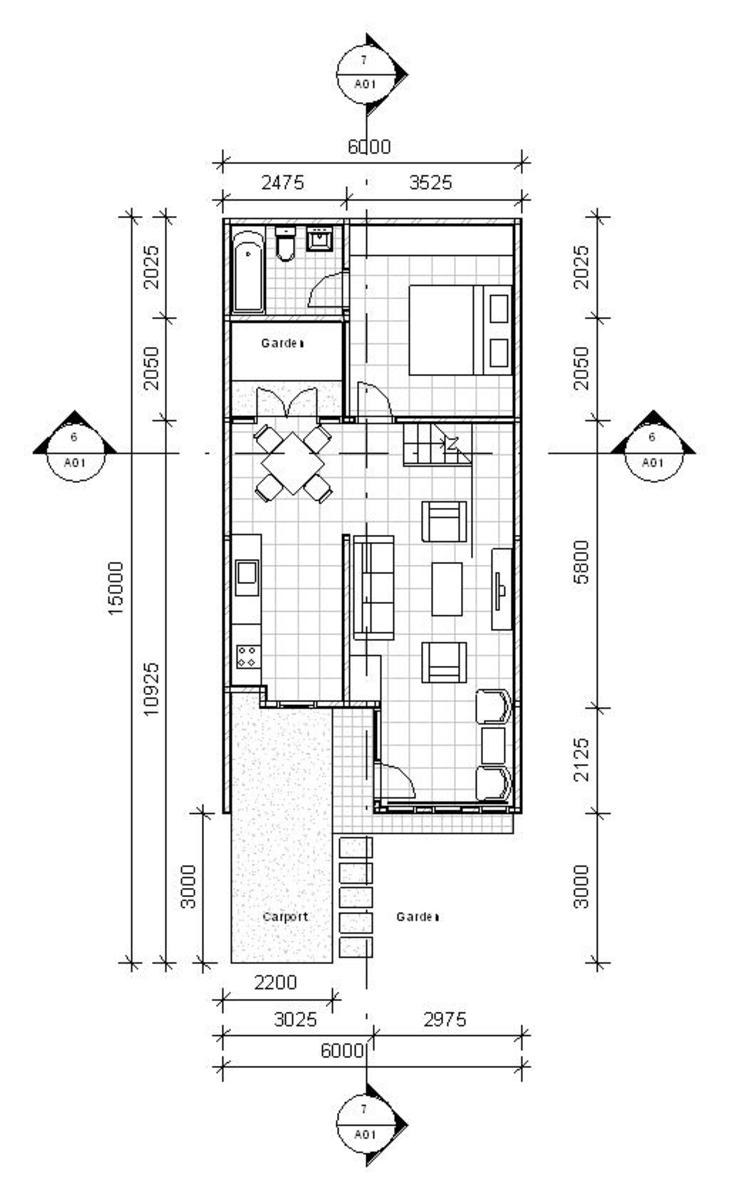 house design on 6m x 15m plots