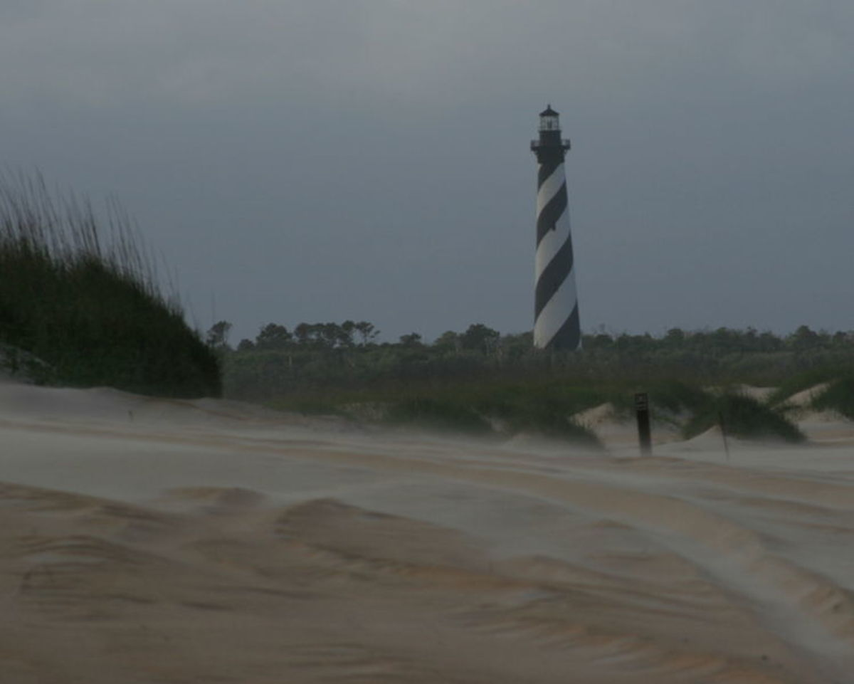 The Hatteras Island Lighthouse viewed from the beach. Every time I see the lighthouse I feel like I'm a part of history.
