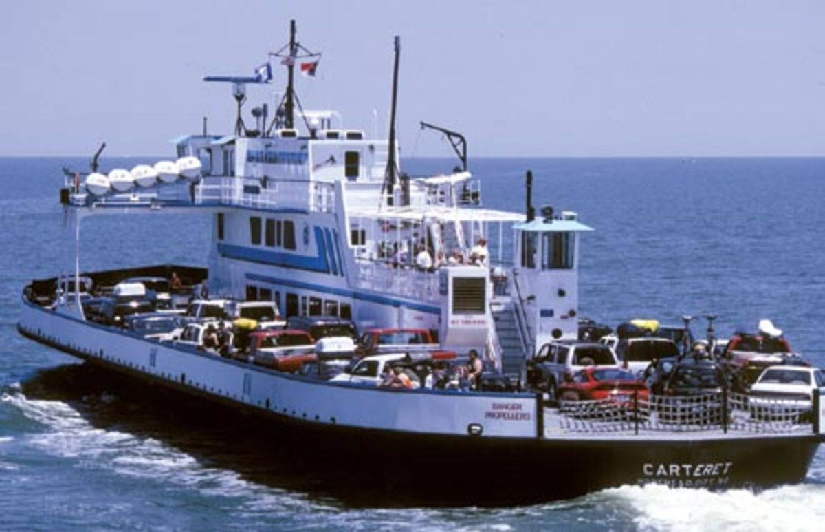 One of the most interesting things about Hatteras Island is the free ferry boat ride from Hatteras Island over to Ocracoke Island.