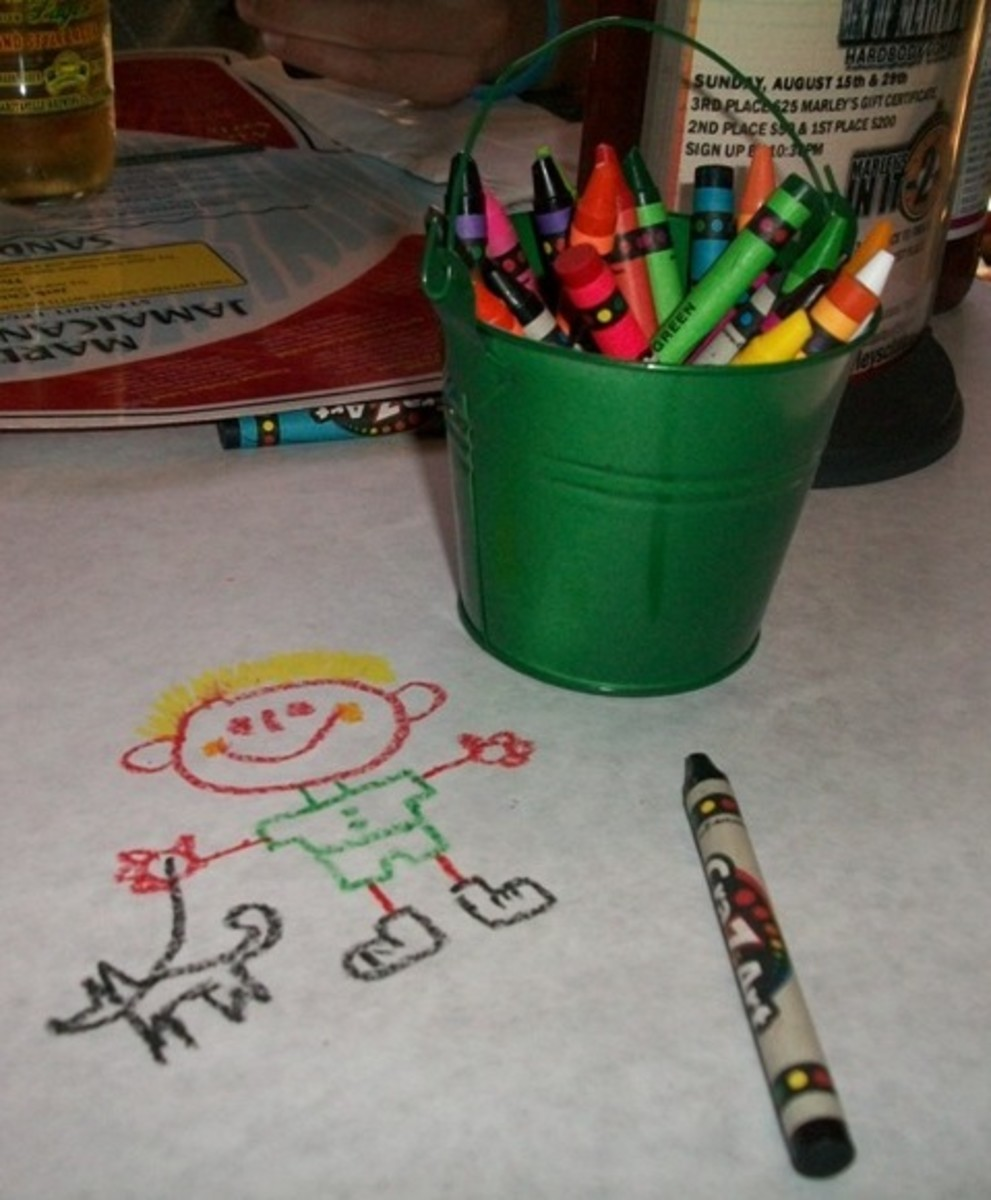 Kids friendly place. Kids menu available and fun drawing on the table cover.