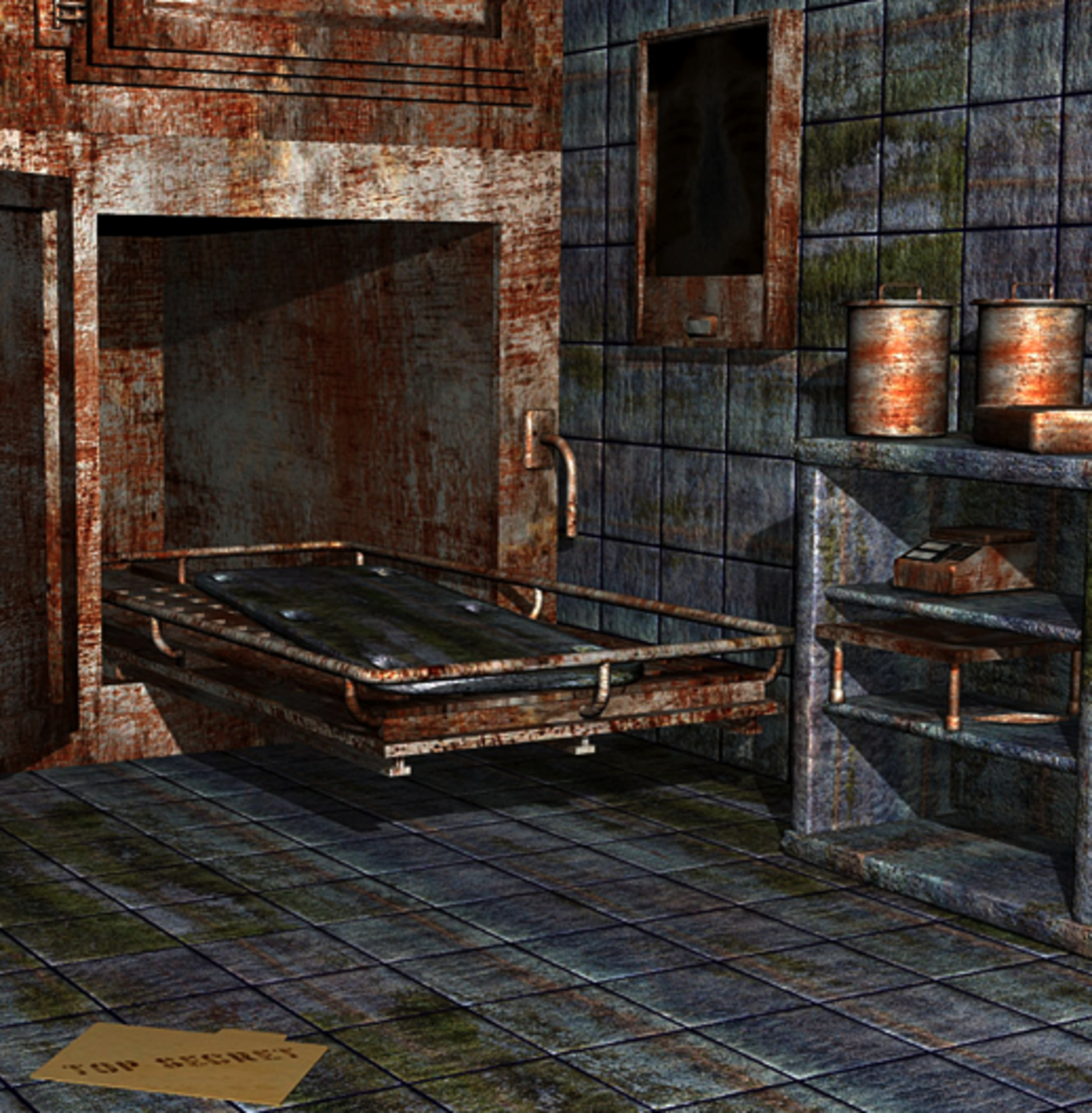 Old-style morgue