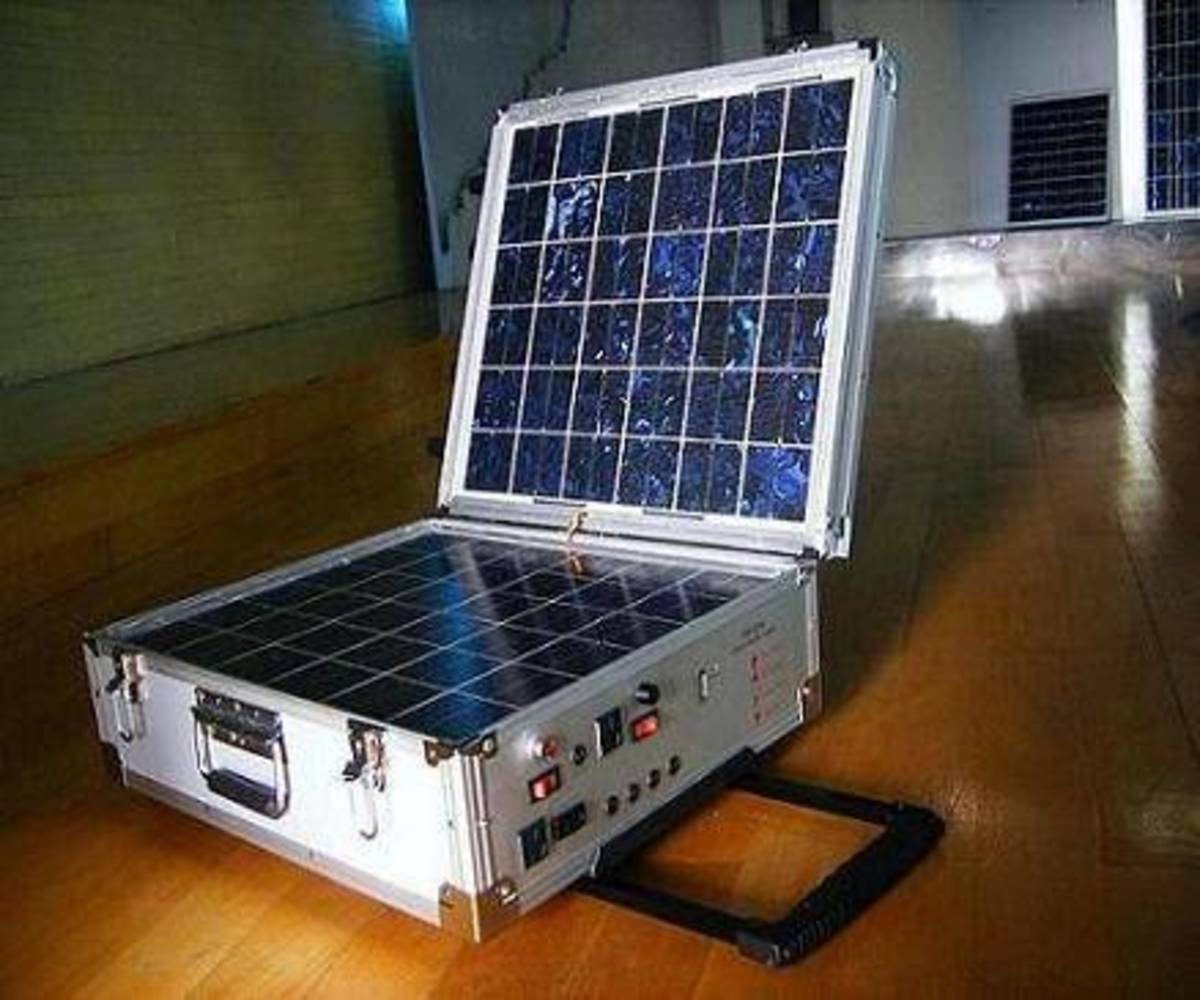 Solar power can be toted to campsites, on boating trips or to construction sites