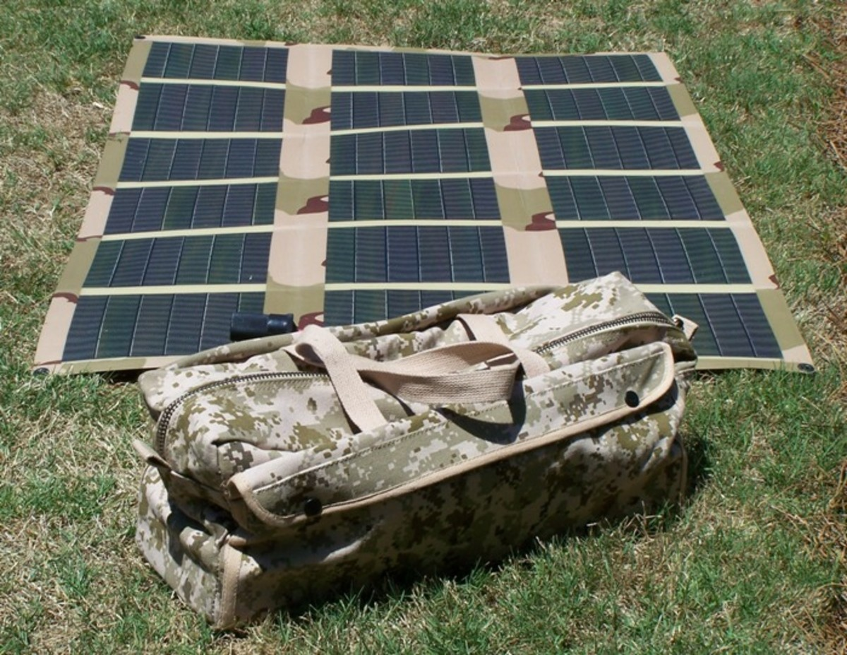 Flexible and portable solar panels are great for outdoorspeople and the military