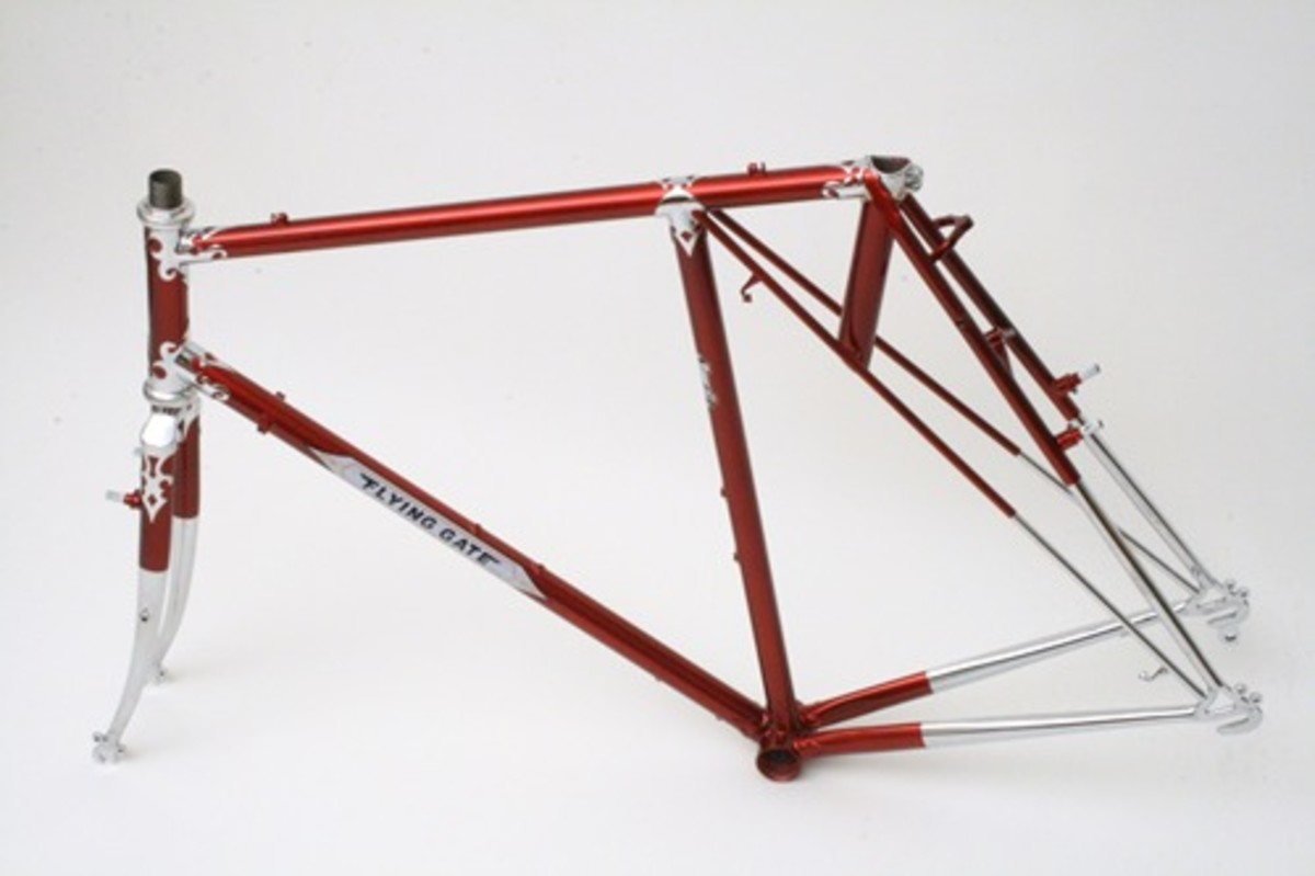 Alex's new Flying Gate frame - beautiful!