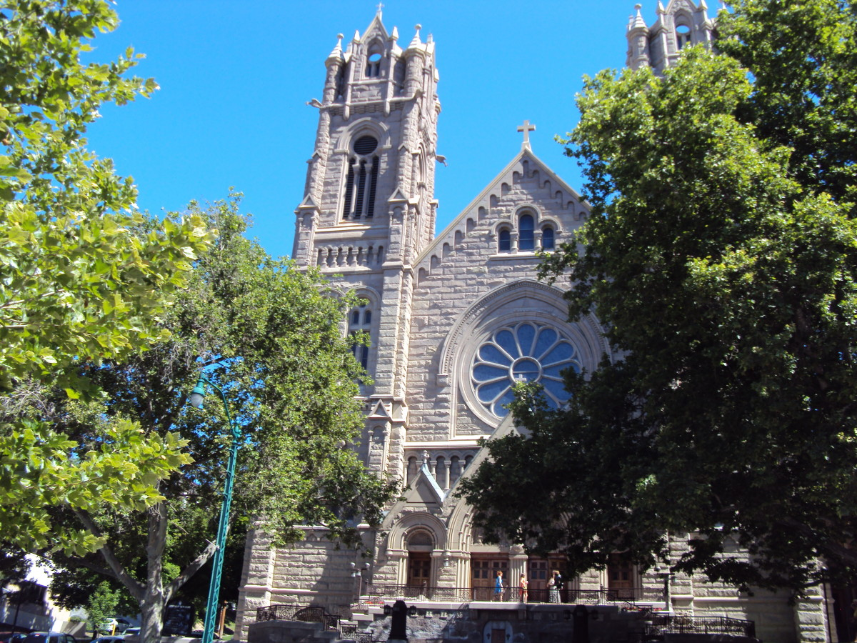 Salt Lake City's Cathedral of The Madeleine sits in a lovely location just up the hill from Temple Square.