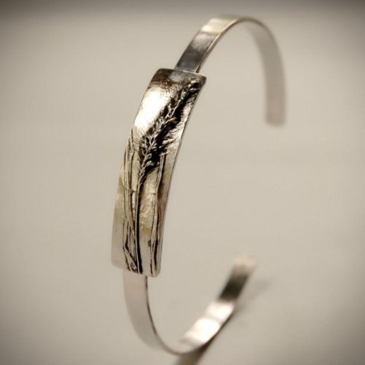 Foxtail Sterling Silver Cuff Bracelet