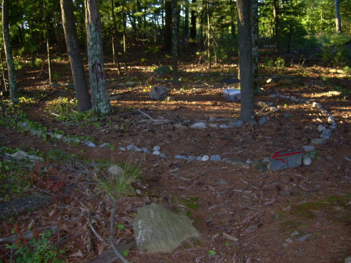 The woodland labyrinth near my home