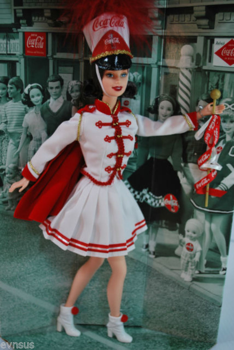 Coca Cola Barbie Doll Drum Majorette