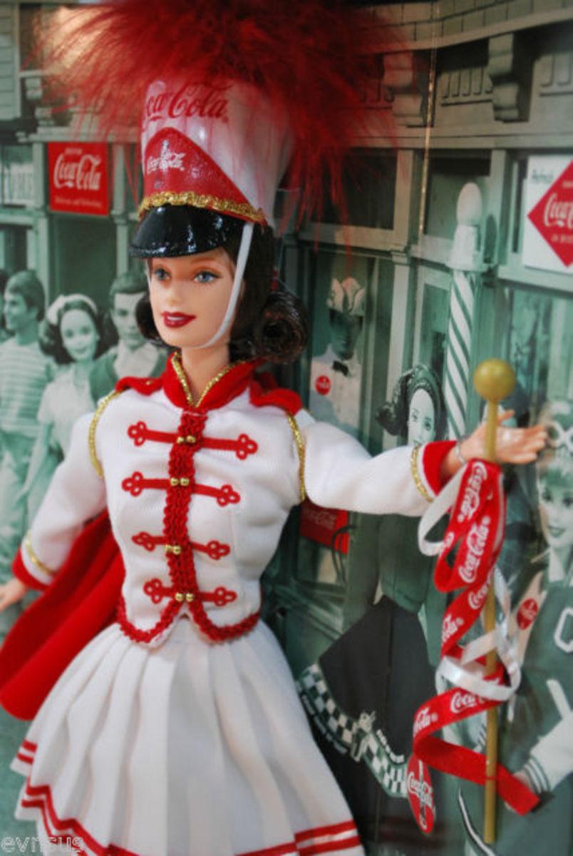 Coca Cola Barbie Doll Drum Majorette