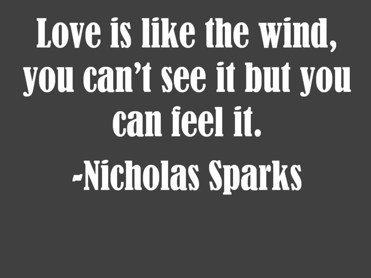 Nicholas Sparks love quote