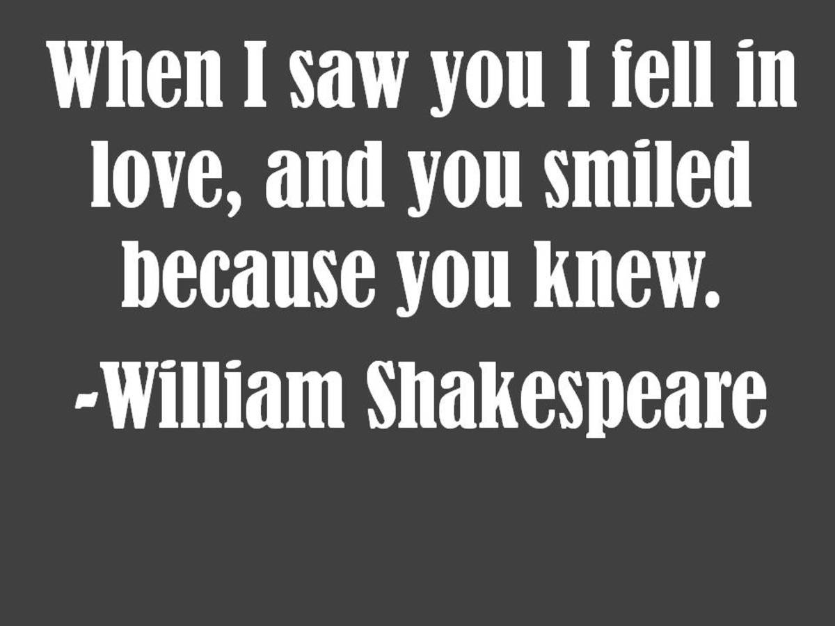William Shakespeare Love Quote