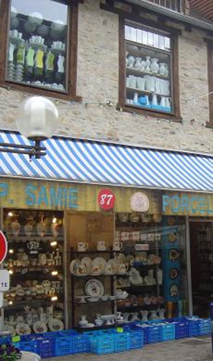 Samie Limoges Porcelain factory shop at Saint Yrieix-la-Perche