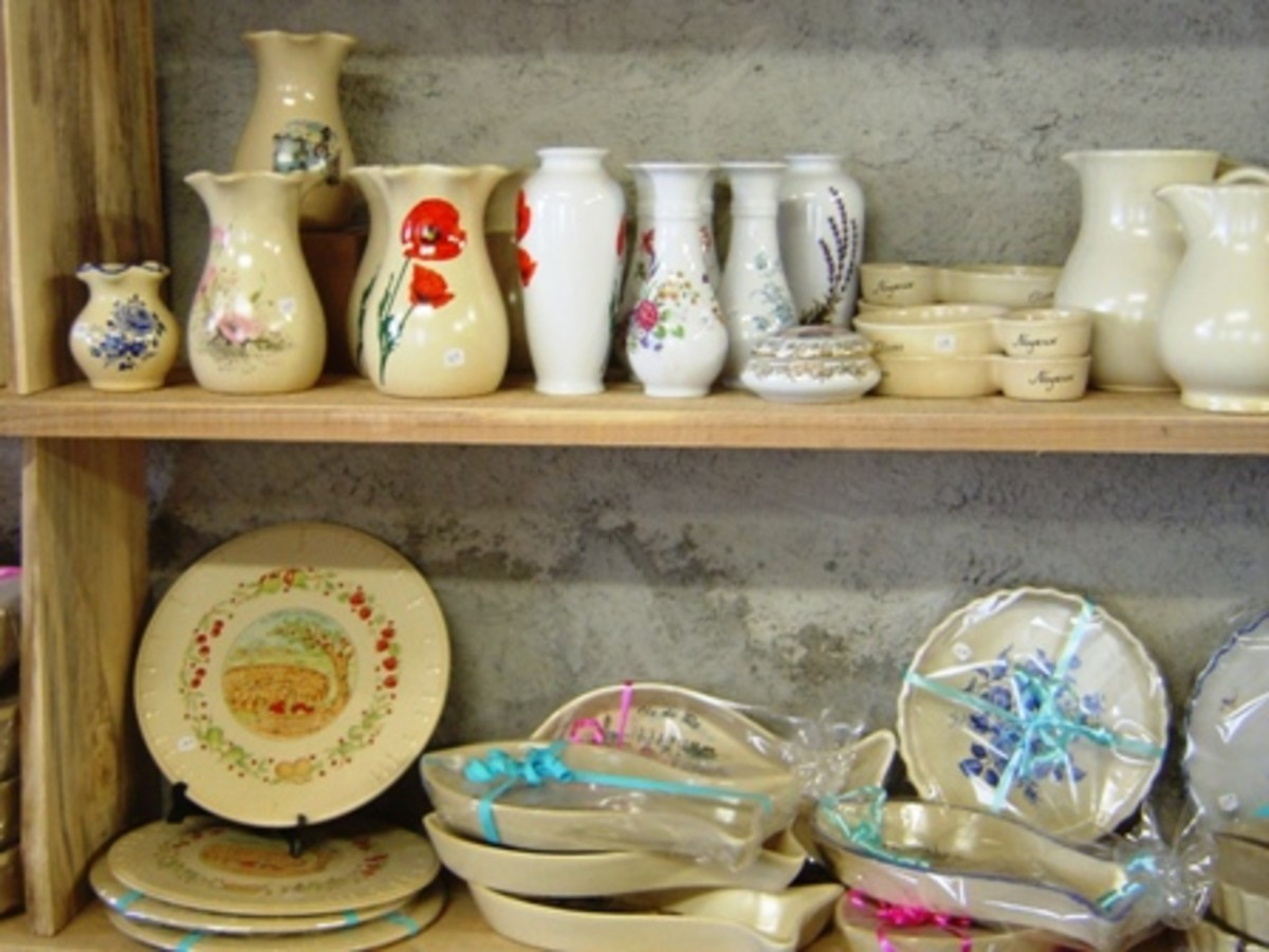 Lots of shelves with all sorts of pots