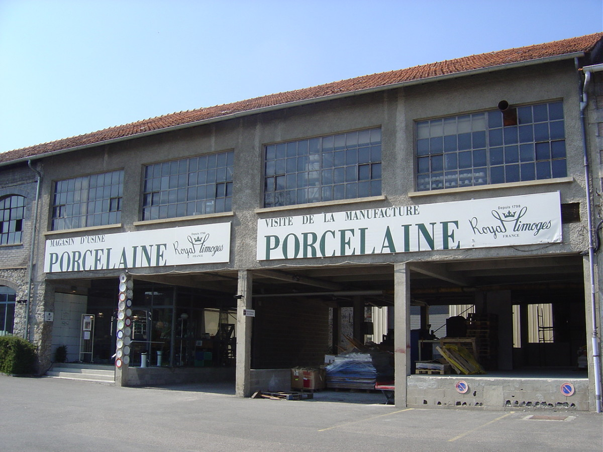 Royal Limoges porcelain factory shop in Limoges