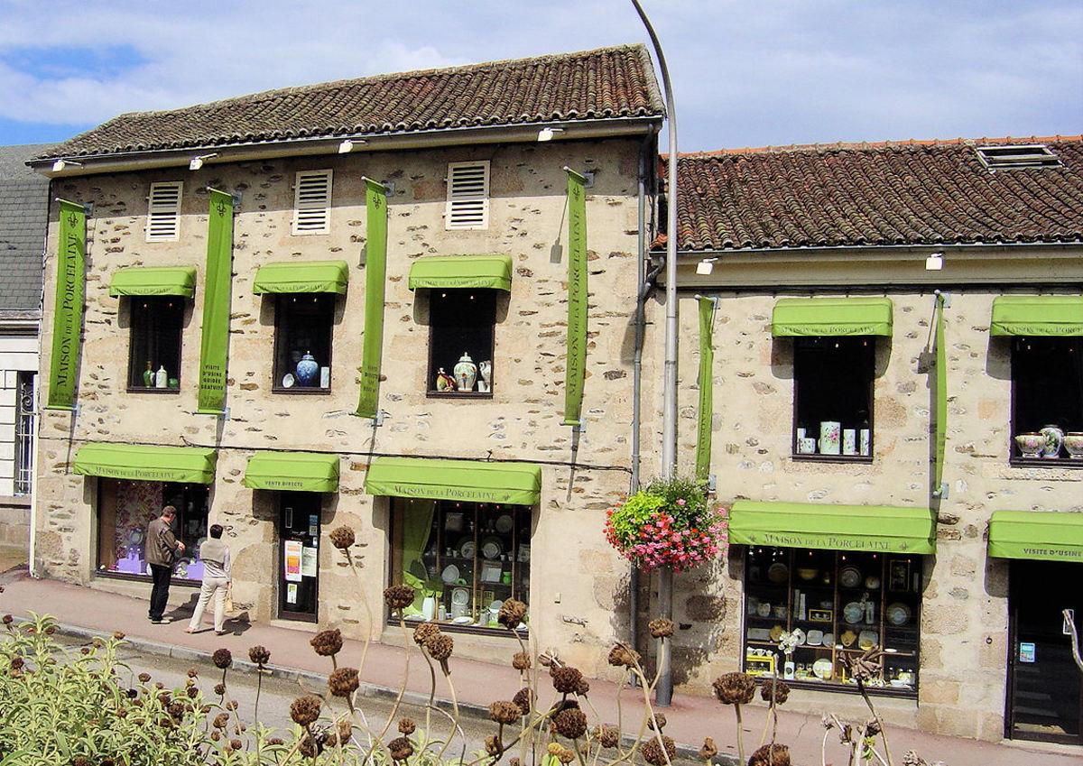 Maison de porcelain Limoges porcelain factory shop Aix-sur-Vienne, Limousin