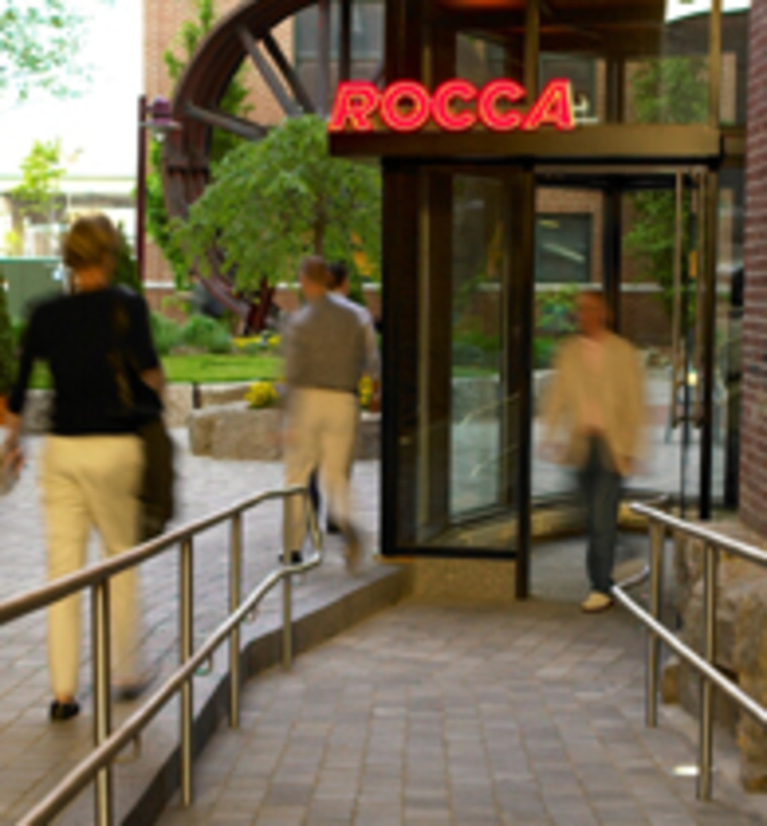 Outside Rocca in Boston, MA. where Tiffany is cooking away in the kitchen.